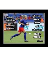 Soccer Motivational Wall Art Gift Julie Ertz Inspirational Quote Poster  - $19.99+