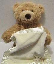 "BABY GUND ANIMATED TALKING PEEK A BOO BEAR 12"" INTERACTIVE PLUSH DOLL TOY - $11.99"