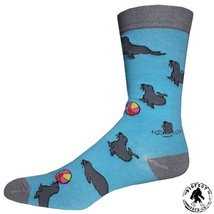 Seal Volleyball Socks Fun Novelty One Size Fits Most Dress Casual Big Fo... - $12.49