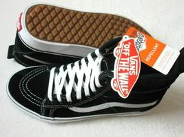 Vans Womens Sk8-Hi MTE All Weather Suede Skate shoes Black True White Si... - $83.29