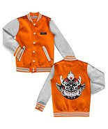 Kids Exquisit Embroidery Flame Mask Buttons Baseball Bomber Jacket Coat ... - $39.17