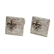 Vintage Swank Silver Tone Fleur De Lis Cufflinks Boy Scouts New Orleans ... - $18.52