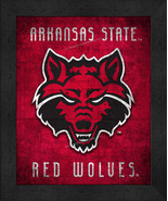 "Arkansas State Red Wolves ""Retro College Logo Map"" 13 x 16 Framed Print  - $39.95"