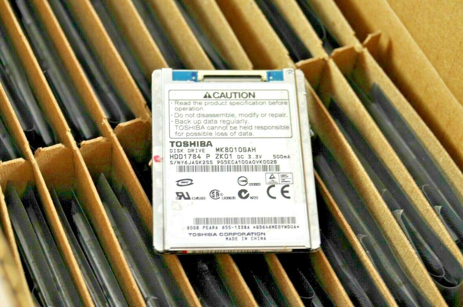 "Primary image for Lot of 10000 Mixed Toshiba 1.8"" harddrives MK8010GAH MK6008GAH MK4006GAH"