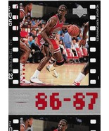 Michael Jordan Upper Deck 98-99 MJ Timeframe #12 90-91 Chicago Bulls MVP... - $0.75