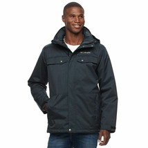 Columbia Men's Thermal Coil Hooded Jacket, Black, Size L, MSRP $200 - $89.09