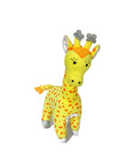 Disney Baby Giraffe Rattle Stuffed Plush Toy Yellow Orange Baby Girl Boy 12 inch - $12.85