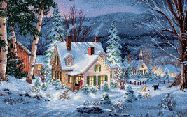 """Dimensions Gold Collection Counted Cross Stitch Kit 20""""X14""""-Winter's Hush - $53.44"""
