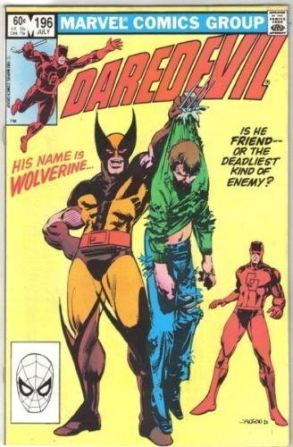 Daredevil Comic Book #196 Wolverine Marvel Comics 1983 FINE+ NEW UNREAD