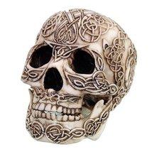 Celtic Knotwork Collectible Skull Figurine Desktop Decor - $23.75