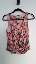 H&M CROSSOVER DRAPED SLEEVELESS FLORAL TOP SIZE 4 - $19.95