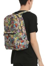 Marvel Retro Comic Strip Print School Book Bag Backpack - $50.80 CAD