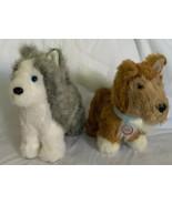 2011 American Girl Doll Dog Toasty Collie Plush V6123 & Siberian Husky P... - $19.79