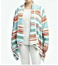 Plus Size 2X NEW Southwest Striped Asymmetrical Open Cardigan Sweater Fo... - $69.99