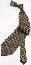 NEW Mens AQUASCUTUM London 100% Silk Teal Geome... - $35.99