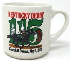 Kentucky Derby 115th Running 1989 Churchill Downs Coffee Cup Mug Race Horse - $13.99