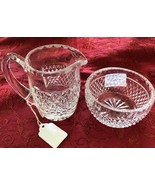 Waterford Irish Cut Glass Cream and Sugar Set, Alana Pattern, Waterford ... - $79.97