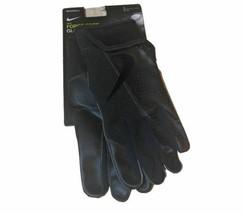 Nike Force Edge Batting Gloves Men's Large Game Black Baseball Batting Leather - $32.66