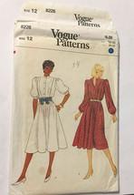 Vogue 8226 Misses Dress Size 12 (Bust 34) Vintage Uncut Sewing Pattern 1... - $26.43