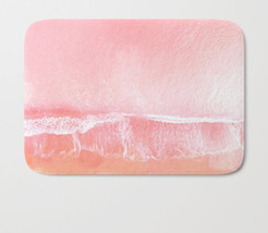 Pink beach Bath Mat, summer in Pink, Everything is Pink, Nautical aerial... - $29.39
