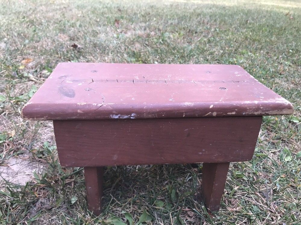 Peachy Small Vtg Wooden Bench Stool Rustic Farm And 50 Similar Items Creativecarmelina Interior Chair Design Creativecarmelinacom