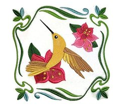 Nature's Bounty [Summer Flowers and Hummingbird] Embroidery Iron On/Sew ... - $14.84