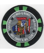 USAF AIR FORCE WIC CLASS 04 AIC/E CHIP GO WUG-LY EARLY EMBROIDERED JACKE... - $18.99