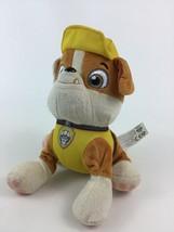 "Paw Patrol Rubble Dog Yellow 8"" Plush Stuffed Animal Toy Puppy Spin Mast... - $9.85"