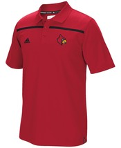 NEW NWT Louisville Cardinals Adidas Men's Sideline Coaches Polo Shirt Small - $37.26