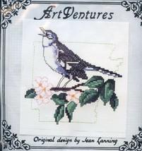 Arkansas Mockingbird Art Ventures Partial Cross Stitch Kit (Floss & Patt... - $5.37