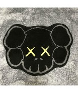Kaws Original Fake x G1950 Skull Rug Mat 70cm x 52cm Black Color Super R... - $511.99