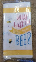 """Gender Reveal Baby Shower, """"What Will The Little Honey Bee?"""" Paper Table Cover - $4.99"""