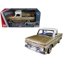 1966 Chevrolet C10 Fleetside Pickup Truck Gold 1/24 Diecast Car Model by... - $34.59