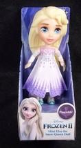 "Disney Frozen II Mini ELSA Snow Queen white dress 3"" poseable figure NEW - $9.70"