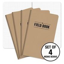 """Field Notebook - 5""""x8"""" - Kraft - Graph Memo Book - Pack of 4 - $12.30"""