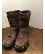 UGG Australia 5381 Brooks Brown Leather Shearling Boots Women's Size 6 - $50.00