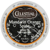 Celestial Seasonings Mandarin Orange Spice Herbal Tea K cups Pick Your Own Size  - $19.98+