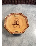Going West Western Theme Boots Lasso China Trinket Tray - $6.93