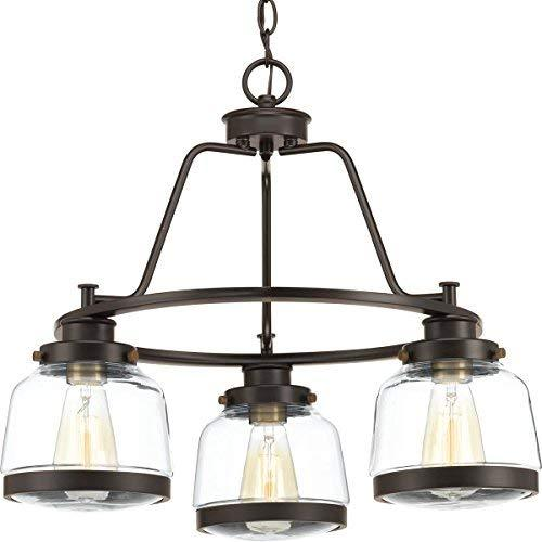 Progress Lighting P400057-020 Judson Three-Light Chandelier, Antique Bronze image 1
