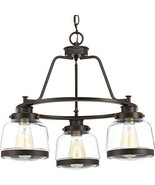 Progress Lighting P400057-020 Judson Three-Light Chandelier, Antique Bronze - $265.80