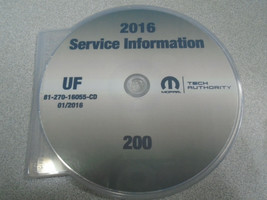 2016 Chrysler 200 Service Information Atelier Réparation Atelier Manuel ... - $197.99