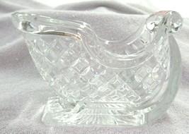 Candy/Nut Dish Diamond Cut Lead Crystal Centerpiece Santa's Sleigh - $24.75