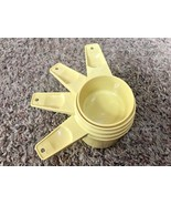 Vintage Tupperware Harvest Yellow Measuring Cups Set/4 Nesting Retro Kit... - $8.90