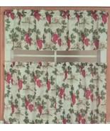 Vineyard Grapes Kitchen Curtain Set 36L Tiers Valance Tuscany Hudson Val... - $29.69
