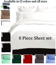 LUXURY COMFORT SHEETS 6 PIECE ULTRA SOFT DEEP POCKET WRINKLE FREE BED SH... - $26.95+