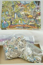 Minneapolis St. Paul Great American Puzzle Factory 1991 USA 550 Barry R. Hoppe - $23.71