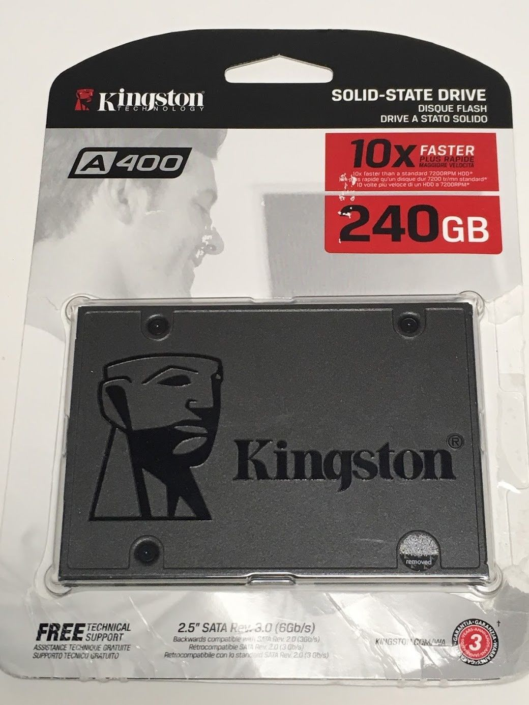 Primary image for KINGSTON SSD 240GB A400 SATA SA400S37/240G 2.5 INTERNAL SOLID STATE 740617261219