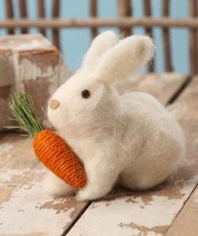 Bethany Lowe Woolly Wabbit Easter Bunny Rabbit Spring Garden Decorations - $11.95
