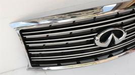 11-14 Infiniti Q70 M35h M37 M56 Front Bumper Upper Grille W/ Emblem W/O Camera  image 2