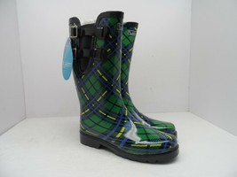 Puddletons Women's Cozy Classic Double Strap Rain Boot PCD04P Green Size 6M - $981,67 MXN